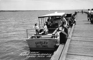 Tawas Michigan~Shirley of East Tawas Perch Fishing Svc~People on Dock~1950s RPPC