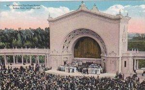 California San Diego Afternoon Pipe Organ Recital Balboa Park