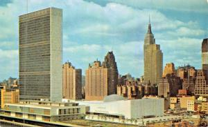 NEW YORK CITY-UNITED NATIONS-LOT OF 4 POSTCARDS 1960s