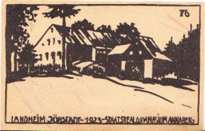 Landstadt Johstadt - 1923 - Staatsreal Gymnasium Annaberg