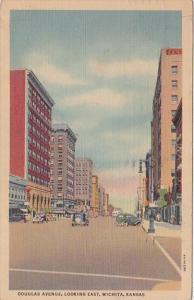 Kansas Wichita Douglas Avenue Looking East 1940 Curteich