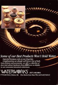 Houseware Advertising Old Vintage Antique Post Card Waterworks Unused