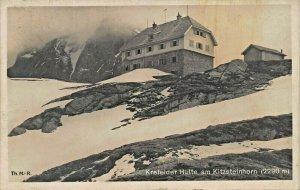 KREFELDER HUTTE am KITZSTEINHORN (2290m)1926 PHOTO POSTCARD