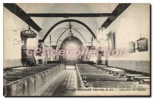Old Postcard The Great Sales S Inf inside the church