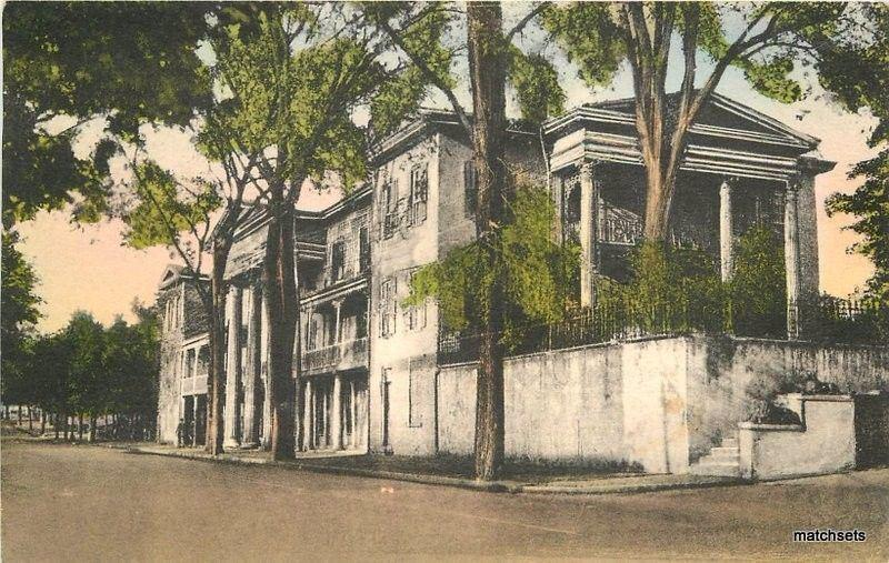 1940 Winston Salem North Carolina Belo House hand colored Albertype 6660