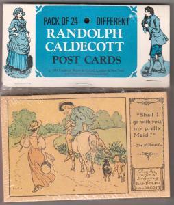 Un-Opened Pack of 24 Randolph Caldecott, Nursery Ryhme Cards