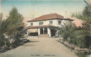 #31. Palmen Hütte, Phoenix, Az Handgemalte Postkarte 1911 Territorial