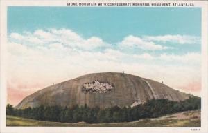 Georgia Atlanta Stone Mountain With Confederate Memorial Monument Curteich