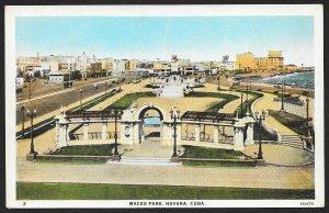 Maceo Park Havana CUBA Unused c1920s