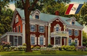 Iowa Des Moines Governors Mansion Curteich
