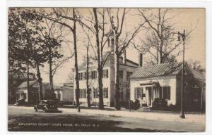 Court House Mt Holly New Jersey 1943 postcard