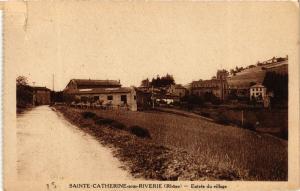 CPA Ste-CATHERINE-sur-RIVERIE - Entrée du vilage (573397)