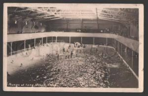 113491 Plunge at LONG BEACH Swimming Pool California Vintage