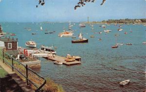 Marblehead Massachusetts~Crocker Park~Harbor Marina~Gas Pumps~Boats~1958 PC