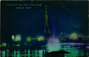 CPA PARIS EXPO 1925 Vue de nuit (860236)