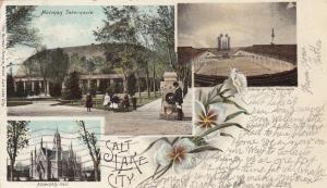 SALT LAKE CITY, Utah, PU-1916; 3 Different Views