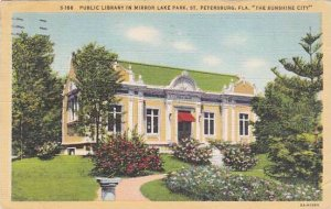 Florida Saint Petersburg Public Library In Mirror Lake Park The Sun Shine Cit...
