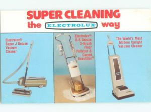Pre-1980 Postcard Ad MIDCENTURY MODERN ELECTROLUX VACUUM CLEANER AC7438