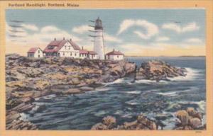Maine Portland Head Lighthouse 1949