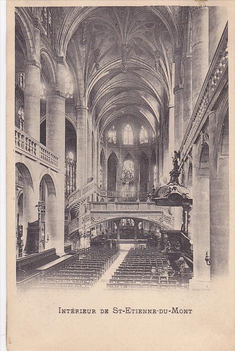 Interieur De ST-ETIENNE-DU-MONT, Paris, France, 1910-1920s