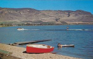 Relaxing in the Okanagan Sun on the Lake, Canoe, Osoyoos, British Columbia, C...
