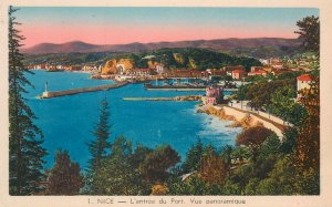 Postcard France Nice l'entree du port vue panoramique seaside panoramic view