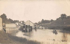 Liberty ME Boathouse View in 1908 RPPC Postcard