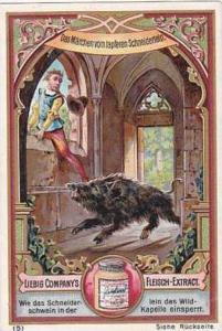 Liebig Vintage Trade Card S493 Das Marchen Vom Tapferen Schneiderlein No 5