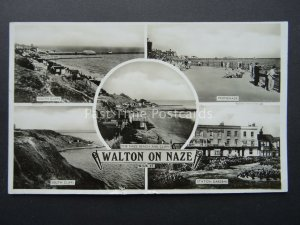 Essex WALTON ON NAZE 5 Image Multiview c1930's RP Postcard by Raphael Tuck