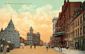 SYRACUSE NEW YORK~W WATER STREET 1910s POSTCARD