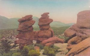 Colorado Colorado Springs Siamese Twins Garden Of The Gods Albertype