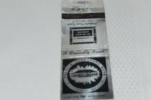 Peapack Gladstone Bank Founded 1921 20 Strike Matchbook Cover