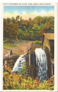 Old Water Wheel During Indian Summer Beautiful Fall image of Old Fashioned Build