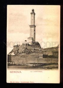 038573 ITALY GENOVA Lighthouse big view Vintage PC