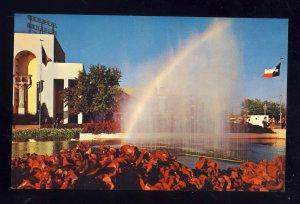 Dallas, Texas/TX Postcard, Rainbow, Flags & Flowers, Texas State Fair Park