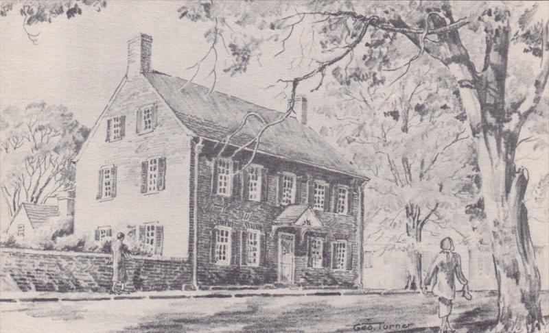 AS: Geo. Turner, The John Vogler House, In Old Salem, WINSTON-SALEM, North Ca...