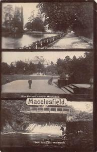 Macclesfield, West Park and Infirmary Dane Valley River Gawsworth Church