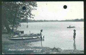 pc10243 postcard Duck Lake Gobles Michigan M573 RPPC postlly used 1956