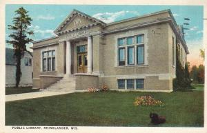 Public Library, Rhinelander, Wisconsin  Posted 1939