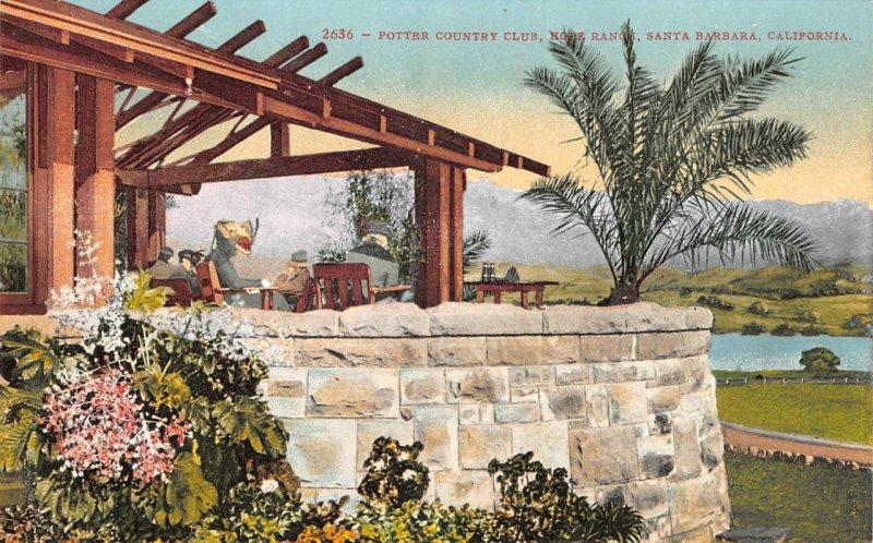 Potter Country Club, Hope Ranch, Santa Barbara, California ca 1910s Postcard