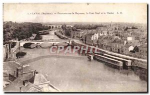 Old Postcard Laval Mayenne Panorama Of The Pont Neuf and The Viaduct