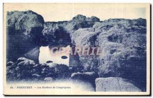 Old Postcard Pornichet Congrigoux Rocks