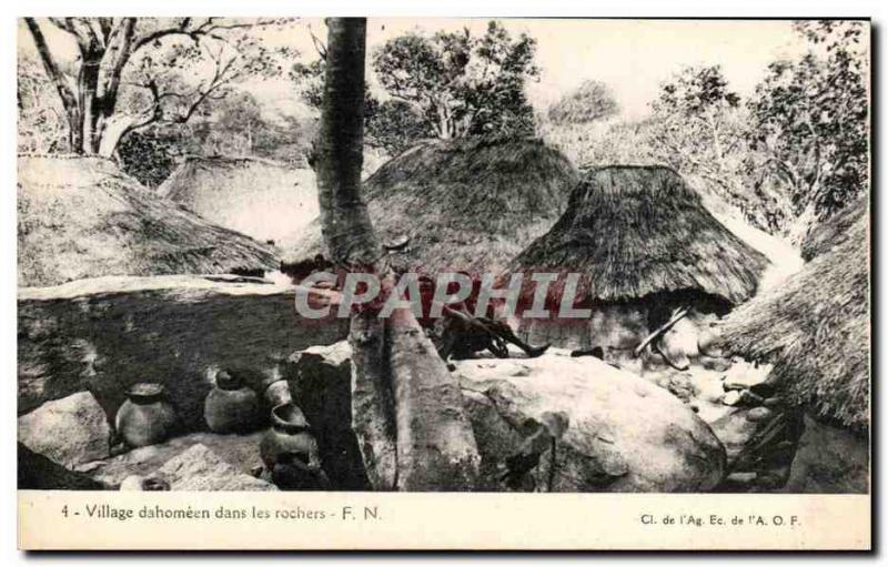 CPA Village dahomeen in the rocks Dahomey Africa
