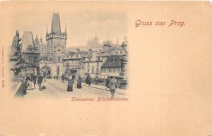 B64658 Kleinseinter Bruckenthurme Prag Prague  czech
