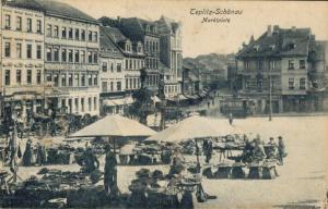 Czech Republic - Teplitz Schönau Marktplatz 02.38