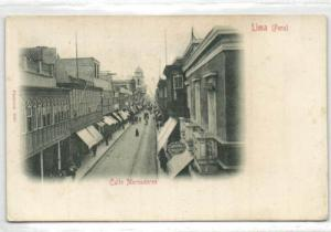 peru, LIMA, Calle Mercaderes (ca. 1899)