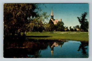 Canada, Church of St Charles, Acadian Tradition, Chrome Postcard