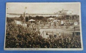 Vintage Postcard Childrens Playground Southend-On-Sea Essex Postmarked 1939 C1E