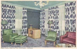 WILMINGTON, Delaware , 1930s ; Interior; Nylon Suite, Hotel Du Pont