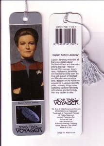 Star Trek Voyager Captain Janeway, Tasseled Bookmark 1994